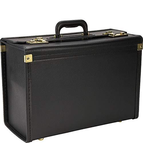 "Heritage Travelware Vinyl Catalog Case, 18.5"", Black"