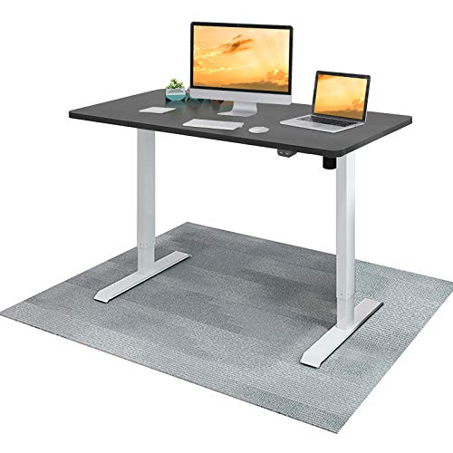 Flexispot EC1 48 inch Electric Standing Desk Height Adjustable Desk, Sit to Stand Desk Home Office Laptop Computer Stand up Table Classic(48x30 Black Desktop + White Frame)