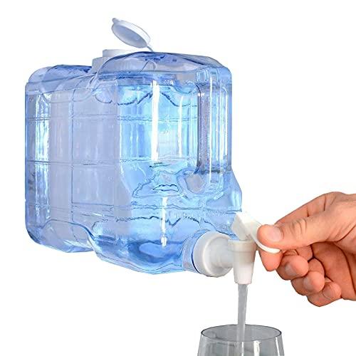Agua Fría Dispensador de Bebidas para Nevera Frigorífico, Capacidad 7,8 litros (263,75 Oz.), Reutilizable, Botella de Plástico PETG, Fuente, Dispensador Bebidas, Playa, Camping, Oficina