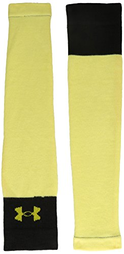 Under Armour Adult Cut Resistant Compression Hockey Sleeves, 1-Pair , Gold/Black , Large