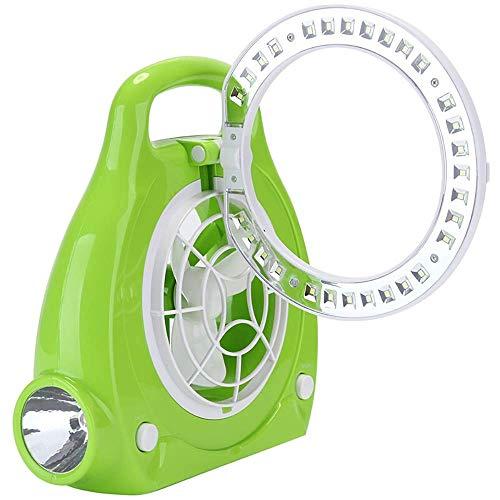 HS-01 led-ventilator tafellamp, studenten-bureaulamp, leeslamp, oplaadbaar, mini-bureaulamp, kleine hand lifting wind leeslamp HS-01 groen