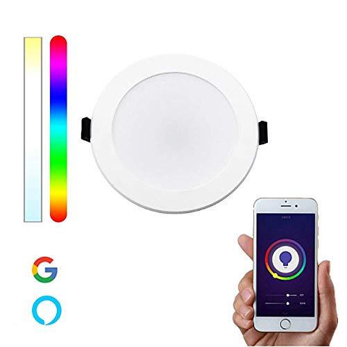 Downlight WiFi Inteligente LED RGBW compatible con Alexa y Google Home, Multicolor Regulable 10W – Smartfy