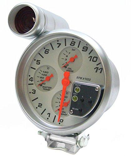 Carparts-Online 10494 Drehzahlmesser ÖL Druck Temperatur Multifunktion Shift Light 5 Zoll