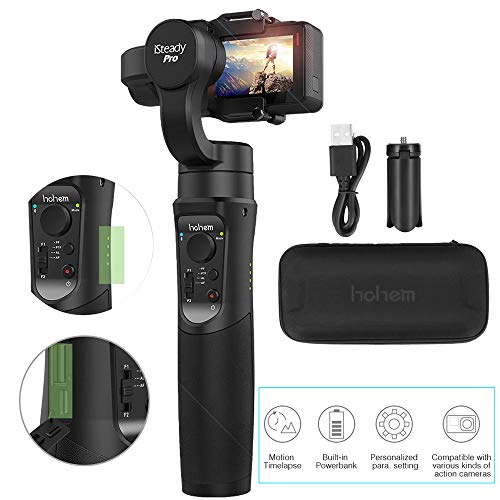 Hohem iSteady Pro 3-Axis Gimbal palmare Action Cameras del giunto cardanico per GoPro 7/6/5/4/3, RX0, AEE, SJCAM, CAM YI, Time-lapse, 12 H Durata, Auto Panorama