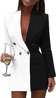AngelZYJ Vestiti Donna Elegante Partito Cocktail Abiti Paillettes Mini Abito Manica LungaMini Vestito Scollo A V Vestitini...