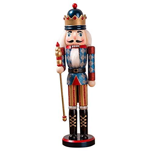 Canghai - Schiaccianoci di Natale, 38 cm, in polvere di cipolla con glitter in polvere e schiaccianoci luccicanti, decorazioni natalizie, per la casa, Capodanno, Natale, colore: blu