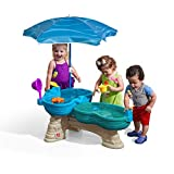 Step2 Spill & Splash Seaway Water Table | Kids Dual-Level Water Play Table with Umbrella & 11-Pc Accessory Set | Large Water Tabl