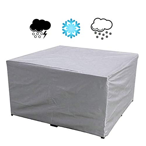 DHWE Garden Furniture Covers Outdoor Furniture Cover for Table Chairs 210D Rectangular Patio Furniture Protective Cover,Siliver (180X120X74cm)