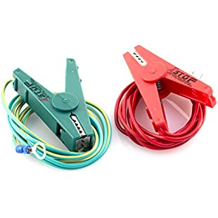 Electric Fence Energiser Pair of Connection Clips EARTH and FENCE:Kisaran