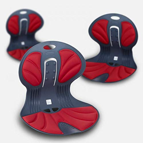 Baleun Angel ChairⅡ, Ergonomic Posture Corrector Chair, Baleun Angel Chair, Back Pain Relief, Back Support, Wing Shape Cushion, Light, Easy to Move, Functional Prime Chair. Ergonomic Design. Red