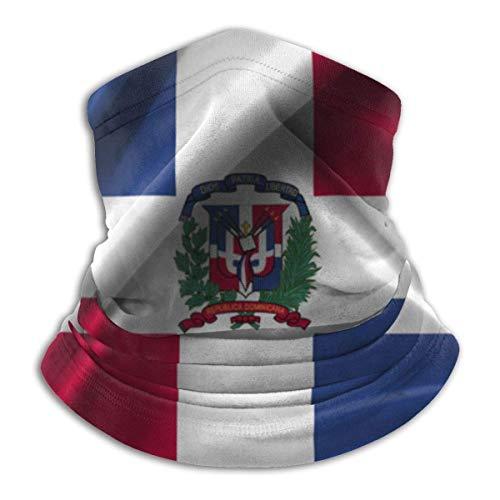 Lfff Pasamontaas Bandera de la Repblica Dominicana Bufanda Deportiva Unisex a Prueba de Viento al Aire Libre Calentador de Cuello pauelo pasamontaas Sombreros