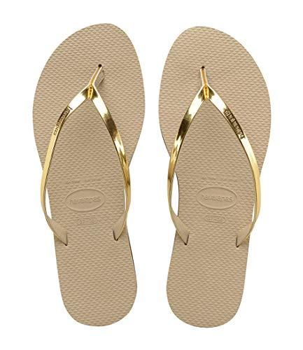 Havaianas Damen You Metallic Zehentrenner, Beige (Sand Grey/Light Golden), 39/40 EU