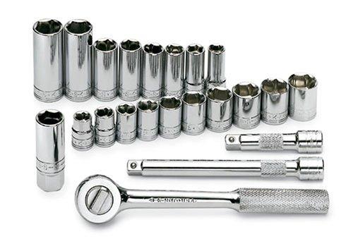 SK 13 13 Piece 3//8-Inch Drive 6 Point 7-Millimeter to 19-Millimeter Socket Set
