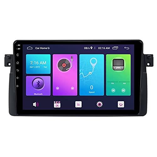 rzoizwko Android Pantalla táctil de 9 Pulgadas Compatible con BMW E46 M3 1998-2005, Reproductor Multimedia, Bluetooth/WiFi/SWC/Receptor de Video con cámara de visión Trasera