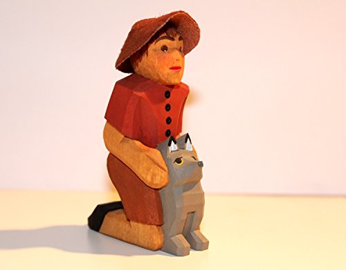 Lotte Sievers-Hahn Krippenfiguren * Junge mit Hund im Baumwollbeutel * 1115