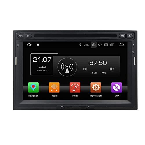Android 8.0 Autoradio Navigazione GPS per Peugeot 3008/5008(2010-2018), 7 Pollici Touchscreen Lettore DVD Radio Bluetooth