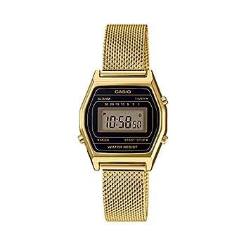 Casio LA690WEMY-1 Women s Vintage Youth Gold Tone Mesh Band Alarm Chronograph Digital Watch
