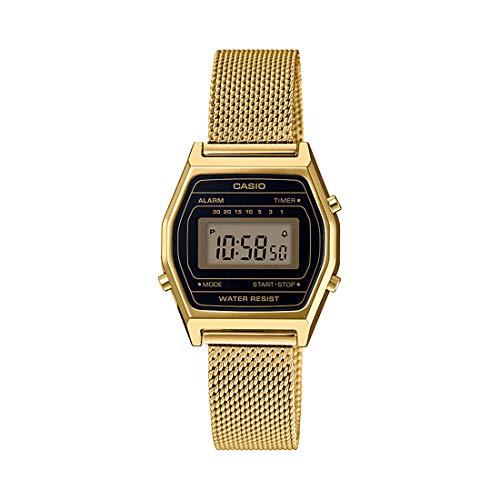 Relógio Casio Vintage Unissex Esteira Dourado La690wemy-1df