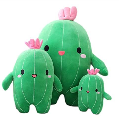 HUAU 3Pcs Flower Cactus Plant Plush Toy Stuffed Doll Pillow Cushion Strengthen Children Kids Boy Girl Gift Bedroom Decor 25-65 Cm