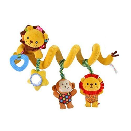 TOYMYTOY Spirale Plüschtiere Spielzeug für Babyschale Kinderwagen Rasseln (Löwe)