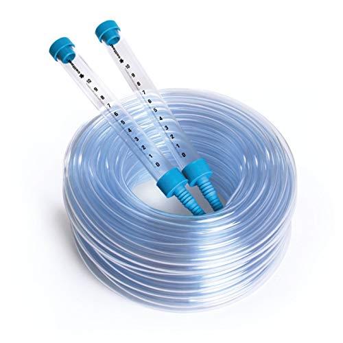 Cellfast Schlauchwasserwaage aus hochwertigem Kunststoff es hat bruchsichere Trichter mit Millimeter-Skala, erleichtert die Nivellierung der Punkte, 22-100
