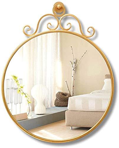 Espejo para maquillarse Hierro del Espejo, de Montaje en Pared de Oro de Maquillaje Espejo de tocador Espejo del Dormitorio de la Sala Creativo Suspensión Restaurante Espejo Espejo portátil