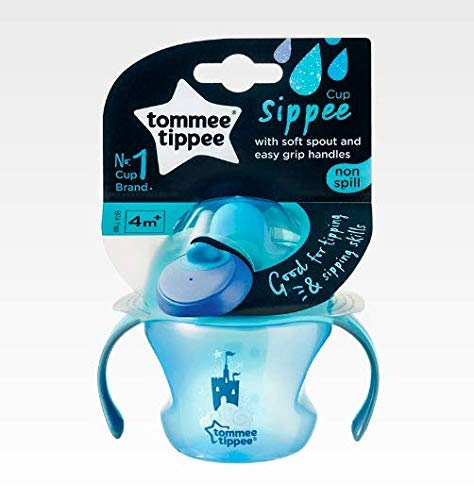 Tommee Tippee Coupe Sippee Sevrage Sans BPA Age 4m + 150ml (Bleu)