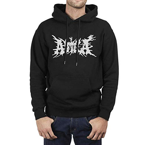 Men's Band Logo Art Pullover Fleece Hooded Sweatshirt Casual Hoodie with Pockets