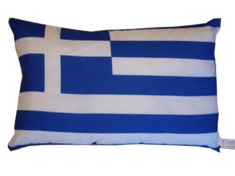 Unbekannt Griechenland Kissen Fahnen Deko Autokissen Griechenland Fan, beide ca. 28 x 40 cm.