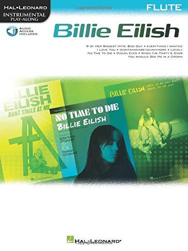 Billie Eilish Instrumental Play-Along Book/Online Audio for Flute: Flute Instrumental Play-Along Pack