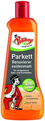 Poliboy - Parkett Renovierer Seidenmatt - für strapazierte Holz- und Korkböden - Bodenreinigung - Einzeln - 500ml - Made in Germany