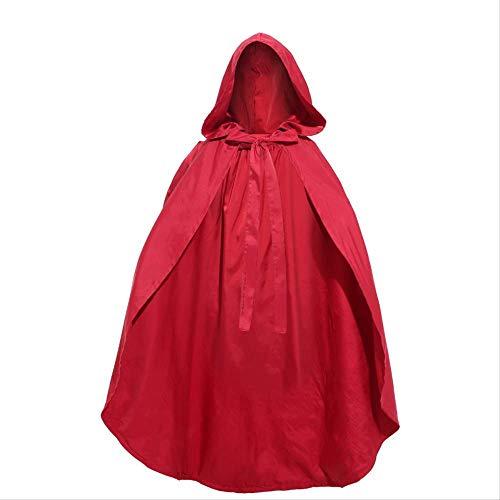 Capa De Cuento De Hadas Lobo Abuela Caperucita Roja Capa De Halloween para Nias Y Mujeres Talla nica Adulto