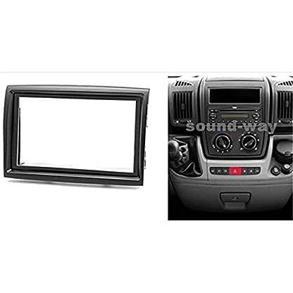 Sound-way-2-DIN-Autoradio-Radioblende-RadioRahmen-Antennenadapter-Schluessel-kompatibel-mit-Fiat-Ducato