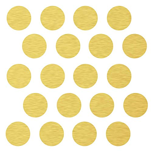 (45) 4' Gold Polka Dot Decals - Removable Peel and Stick Circle Wall Decals for Nursery, Kids Room, Mirrors, and Doors