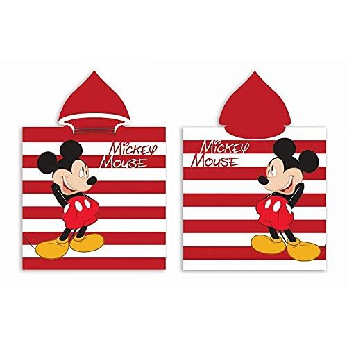 Poncho Mickey Mouse Disney para niños, playa, piscina, niño, Mickey Mouse, toalla Summer Kids de algodón, 50 x 100 cm