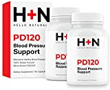 PressureDown120 High Blood Pressure Supplement to Lower BP Naturally-Premium Cardiovascular Heart Health Supplements-CoQ10, Vitamin D, L-Theanine for Stress Reduction (Pack of 2 Bottles, 120 Capsules)