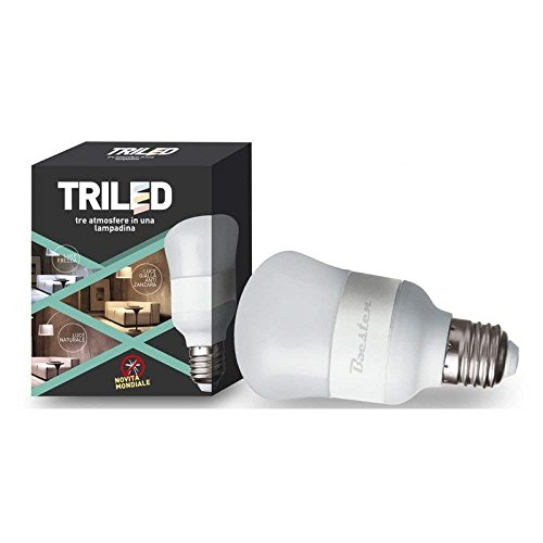 Triled Baest LED-lamp, E27, 7 W (komt overeen met 100 W), gebruik binnen en buiten, koud wit, geel
