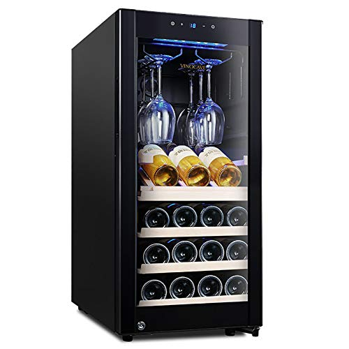 15 Bottle Wine Cooler 90 liters Silent shock absorption Light blocking Air cooled without frost Built in or Freestanding Wine Refrigerator with Compressor Cooling System