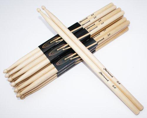12 Paar Drumsticks 5A Maple (24 Stück)