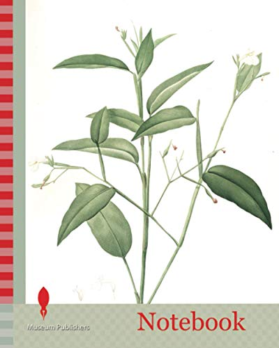 Notebook: Maranta arundinacea, Maranta roseau, Arrowroot, Obedience plant, Redouté, Pierre Joseph, 1759-1840, les liliacees, 1802 - 1816