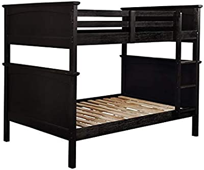 Furniture of America Delphine Full Over Full Bunk Bed in Black