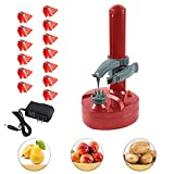 Electric Peeler Rotato Express2.0 + 15 Replacement Blades,Automatic Rotating Fruits & Vegetables Cutter Apple Paring Machine - Kitchen Peeling Tool