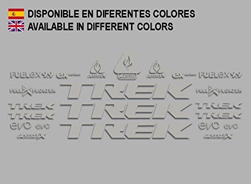 Ecoshirt L3-VWLN-2SI4 Aufkleber Trek Fuel Ex 9.9 Bikes F144 Stickers Aufkleber Decals Autocollants Adesivi MTB BTT Silber