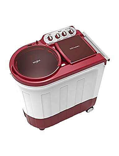 Whirlpool 8.5 kg Semi-Automatic Top Loading Washing Machine (ACE TURBO DRY 8.5, Coral Red, 2X Drying Power)