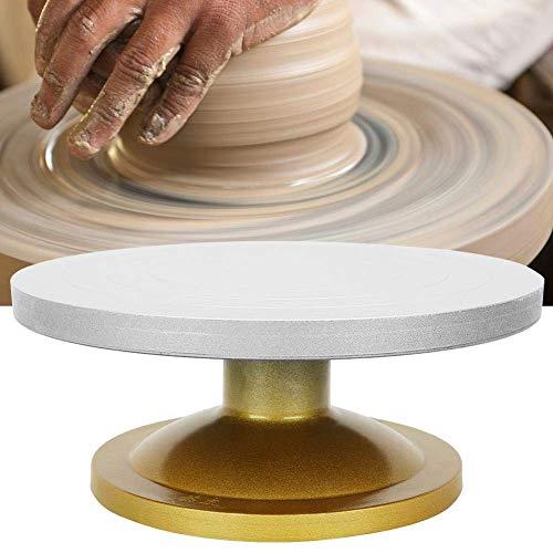 Rziioo Bildhauerscheibe, Hochleistungsmetallkeramik Maschinen-Drehteller-Töpferscheibe Drehtischlehm Modellierwerkzeug 50 kg Tragfähigkeit, Antihaft-Schlamm - 30 cm