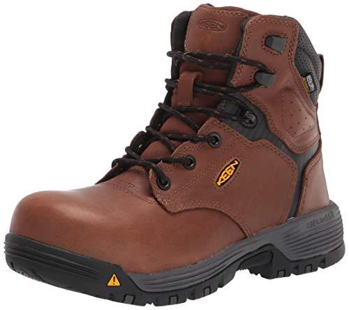 "KEEN Utility Women's Chicago 6"" Composite Toe Waterproof Work Boot, Tobacco/Black, 8.5 Medium US"
