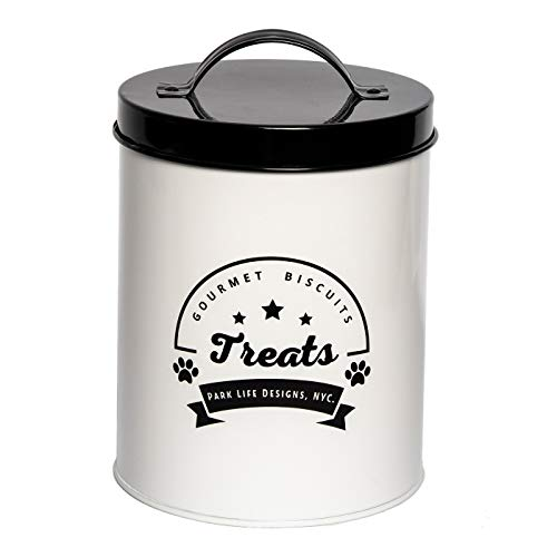 Review Park Life Designs Gourmet Biscuits Medium Treat Tin, Stylish Enamel-coated Carbon Steel Canis...