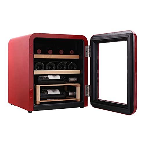N\C Cave à cigares avec Panneau LED, Refroidisseur à vin et réfrigérateur, Refroidisseur à cigares, Commande Tactile en Acier Inoxydable, étagères en Bois à 3 Couches LKWK