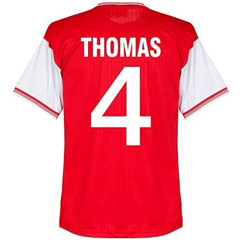 Score Draw Arsenal Home Centenary Thomas 4 Retro Jersey 1984-1985 (Retro Flock Printing) - M