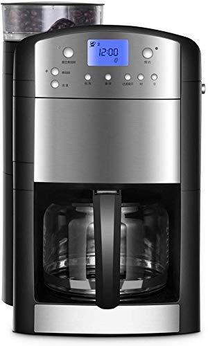 YYAI-HHJU Hefacy Bean To Cup Coffee Machine Cafetera Goteo Automático Estadounidense,Máquina De Té/Café Recién Molido,Goteo Inteligente Programable,Vidrio,Filtro Permanente Y Hogar Y Oficina